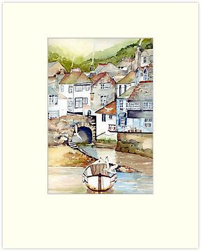 Low Tide Polperro by Val Spayne