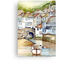 Low Tide Polperro Canvas Print