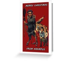 Merry Christmas... From Krampus Greeting Card