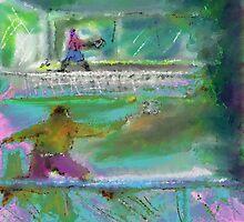 Tennis game (c2011) by Paul Romanowski