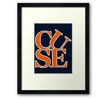 CUSE - LOVE ORANGE Framed Print