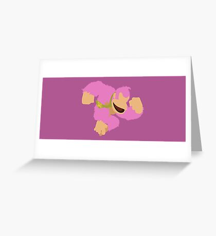 Donkey Kong (Pink) - Super Smash Bros. Greeting Card