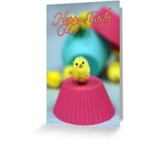 Waiting For Cake - Easter Card Fuzzy Chick Greeting Card