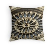 The Rose Window Throw Pillow