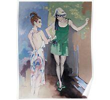 """Gossip"" Oil on Canvas Poster"