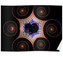 Spiral Hex Escher  (UF0212) Poster
