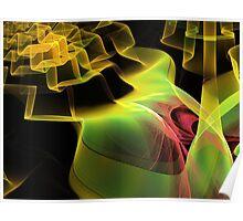 Rose Cascade Escher  (UF0219) Poster