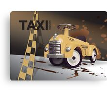 Vector Taxi Canvas Print