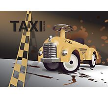 Vector Taxi Photographic Print