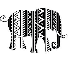 Aztec Elefant Photographic Print