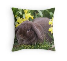 Happy Easter ~ Easter Bunny Throw Pillow