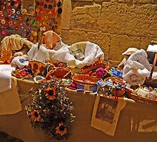 Handcraft stall, Old City, Split, Croatia by Margaret  Hyde