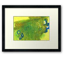 window in landscape Framed Print