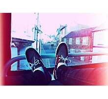 My feet on a bus Photographic Print