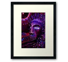 Voodoo Purple Blue Voodoo Framed Print