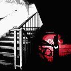 Karate Fighting Chicken Hides In Shadows by JNRYJD