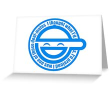 Ghost in the Shell - Laughing Man Greeting Card