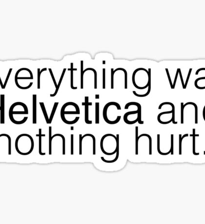 Helvetica. Sticker