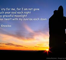 Afterlife - Sunset Silhouette with Poetry. by Andrea Robinson