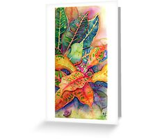 """Croton Series 1"" Silk Painting Greeting Card"