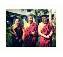 Khenpo Sonam,  Venerable Khenchen Palden Sherab Rinpoche and Khenpo Tashi Gyatso Art Print