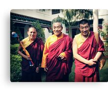 Khenpo Sonam,  Venerable Khenchen Palden Sherab Rinpoche and Khenpo Tashi Gyatso Canvas Print