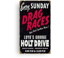 Drag races Canvas Print