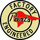 Pontiac Factory Parts vintage sign by htrdesigns
