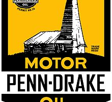 Penn Drake Motor Oil vintage sign by htrdesigns
