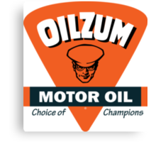 Oilzum Motor Oil vintage sign Canvas Print