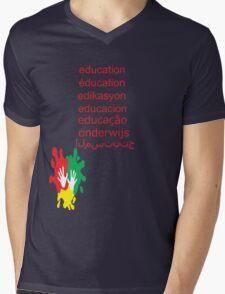 education t-shirt  Mens V-Neck T-Shirt