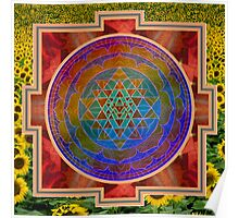 Yantra and the sunflower Poster