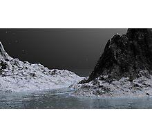 Ice Ravine by Moonlight Photographic Print