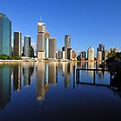 Brisbane River and City at dawn. Queensland, Australia.(9) by Ralph de Zilva