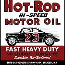 Hot Rod Motor Oil vintage tin can by htrdesigns