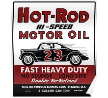 Hot Rod Motor Oil vintage tin can Poster