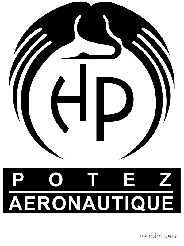 quotpotez aircraft company logoquot stickers by warbirdwear