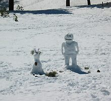 Snow man and his Alf? by Glenn Clark
