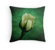 White Rose Opening Throw Pillow
