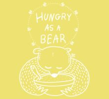 Hungry As A Bear (white print) Kids Tee