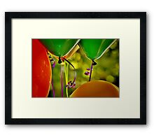 Party Balloons Framed Print