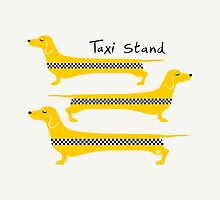 Taxi Stand Weenie Dogs by TsipiLevin