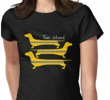Taxi Stand Dogs Womens Fitted T-Shirt