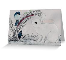 The White Bunny Rabbit (Easter card/Spring) Greeting Card