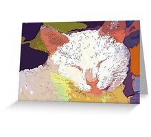 Comfy cat Greeting Card