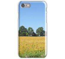 Bean Field w/Barn iPhone Case/Skin