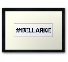 #BELLARKE (Navy Text) Framed Print