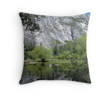 Mirror Lake - Yosemite Throw Pillow