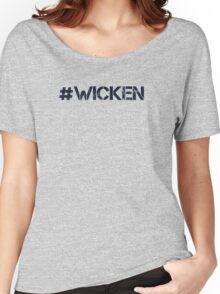 #WICKEN (Navy Text) Women's Relaxed Fit T-Shirt