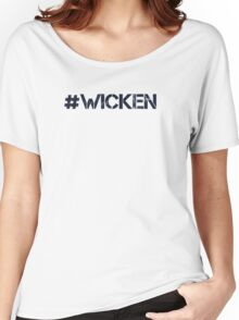 #WICKEN (Navy Text) Women's Relaxed Fit T-Shirt